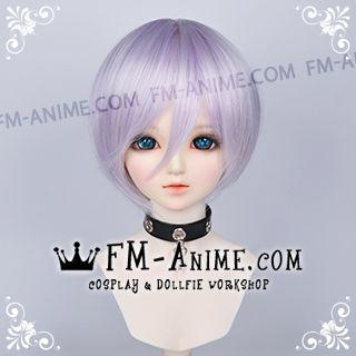 Short Silver Purple BJD Dolls Wig