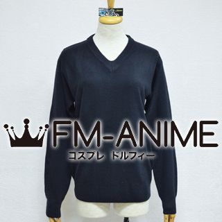 Japanese Uniform Long Sleeved V Shape Collar Sweater Cosplay Costume (7 Colors)