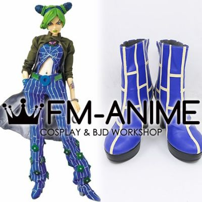 JoJo's Bizarre Adventure: Stone Ocean Jolyne Cujoh Blue Cosplay Shoes Boots