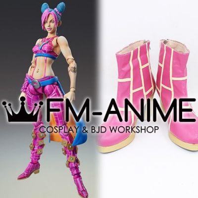 JoJo's Bizarre Adventure: Stone Ocean Jolyne Cujoh Pink Cosplay Shoes Boots