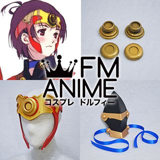 Kabaneri of the Iron Fortress Mumei Cosplay Accessories on Waist & Knee Armour & Headdress
