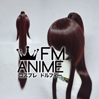 Long Length Clips on Straight Single Chocolate Reddish Brown Cosplay Wig