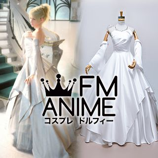 Kingsglaive: Final Fantasy XV Lunafreya Nox Fleuret White Wedding Dress Cosplay Costume