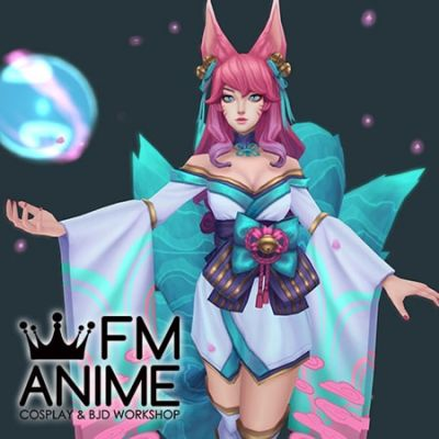 League of Legends Spirit Blossom Ahri Kimono Cosplay Costume