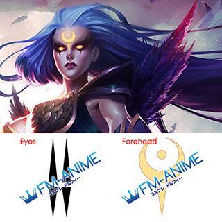 League of Legends Dark Valkyrie Diana Cosplay Tattoo Stickers