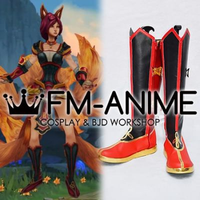 League of Legends Foxfire Ahri Cosplay Shoes Boots