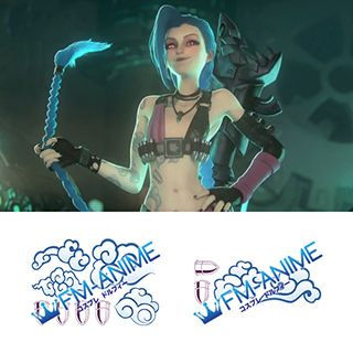 League of Legends Jinx Cosplay Tattoo Stickers (Version 1)