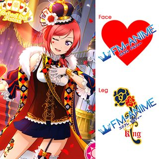 Love Live! Magician Cards Cosplay Tattoo Stickers