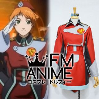 Macross Frontier Monica Lange & Mina Roshan Military Uniform Cosplay Costume