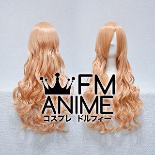 Medium Length Wavy Peach Cosplay Wig
