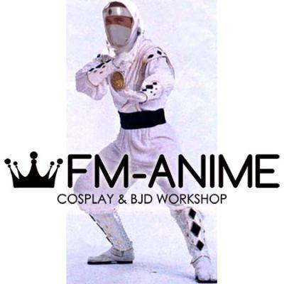 Super Sentai Series Mighty Morphin Power Rangers White Ninjetti Ninja Ranger Cosplay Costume
