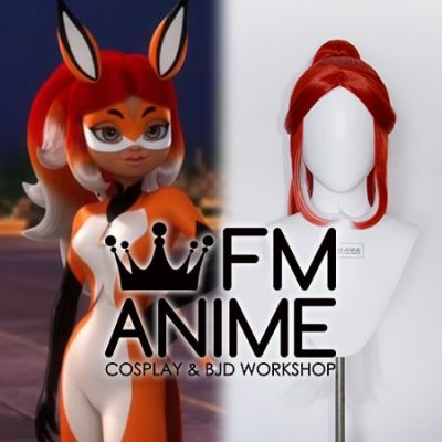 Miraculous: Tales of Ladybug & Cat Noir Rena Rouge Red White Cosplay Wig