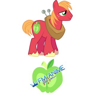 My Little Pony Big Mac Cutie Mark Cosplay Tattoo Stickers