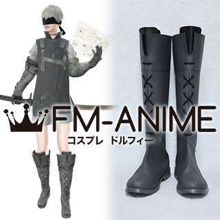 Nier: Automata 9S DLC Gray Cosplay Shoes Boots