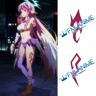 No Game No Life Jibril Cosplay Tattoo Stickers