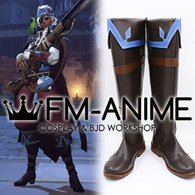 Overwatch Ana Halloween Terror Corsair Cosplay Shoes Boots