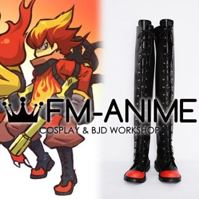 Pokemon Magmortar Personified Cosplay Shoes Boots