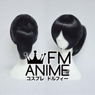 Short Straight Ponytail Style Black Cosplay Wig