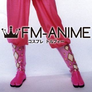 Super Sentai Series Power Rangers Pink Ninjetti Ranger Cosplay Shoes Boots