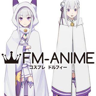 Re:ZERO -Starting Life in Another World- Emilia Cat Cloak Cosplay Costume