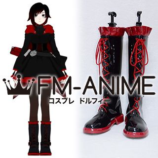 RWBY Red Ruby Rose Cosplay Shoes Boots