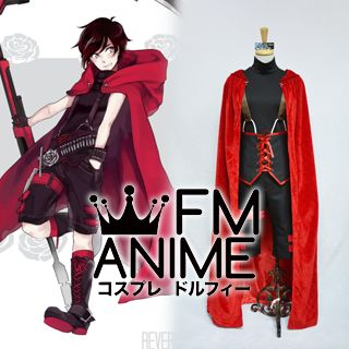 RWBY Red Ruby Rose (Male) Cosplay Costume