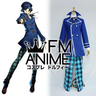 Shin Megami Tensei: Persona 4 Naoto Shirogane Uniform Cosplay Costume with Hat
