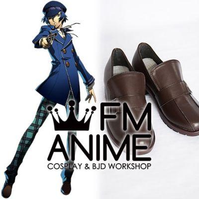 Shin Megami Tensei: Persona 4 Naoto Shirogane Cosplay Shoes Boots (Dark Brown)
