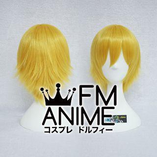 Short Layered Gold Cosplay Wig