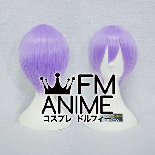 Short Straight Light Purple Cosplay Wig