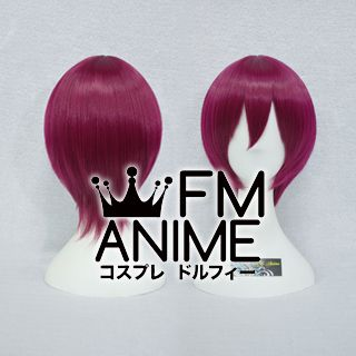 Short Straight Rosy Wine Red Cosplay Wig
