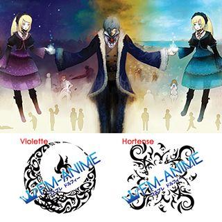 Sound Horizon Roman Hortense & Violette Cosplay Tattoo Stickers