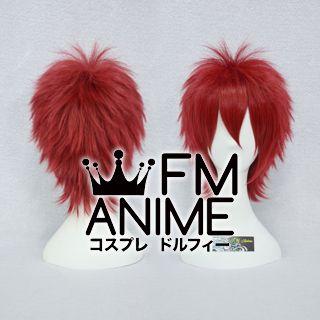 Short Spike Style Dark Red Cosplay Wig