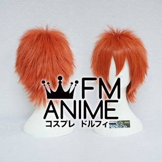 Short Spike Style Smoky Orange Cosplay Wig