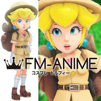 Super Mario Odyssey Princess Peach Explorer Outfit Cosplay Costume