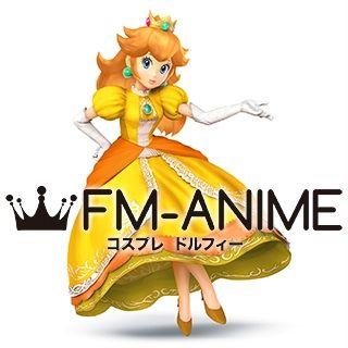 Super Mario / Super Smash Bros.4 Princess Daisy Dress Cosplay Costume