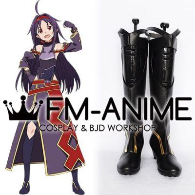 Sword Art Online II Konno Yuuki ALfheim Online ALO Black Cosplay Shoes Boots