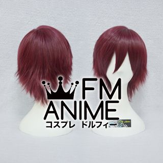 Short Spike Style Mixed Wine Red Cosplay Wig #L0112