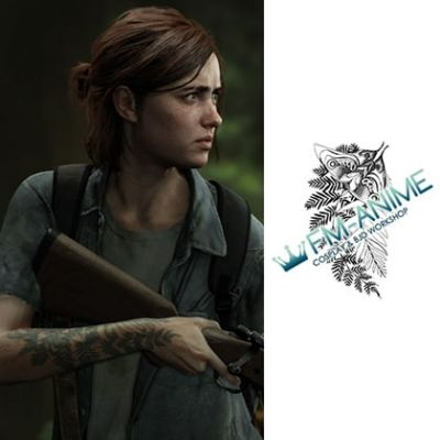 The Last of Us Ellie Cosplay Temporary Tattoo Stickers