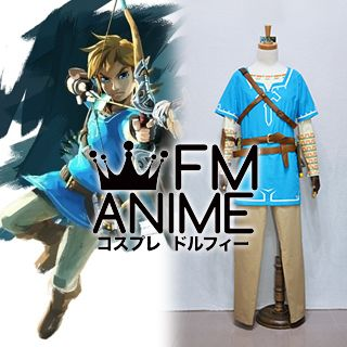 The Legend of Zelda: Breath of the Wild Link Cosplay Costume with Accessories