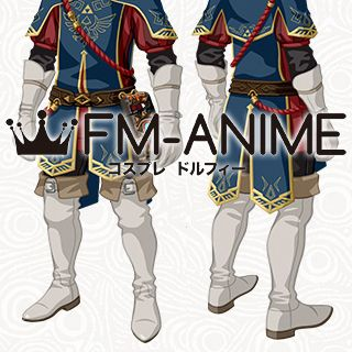 The Legend of Zelda: Breath of the Wild Link Royal Guard Uniform DLC Cosplay Shoes Boots