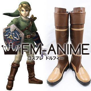 The Legend of Zelda: Twilight Princess / Super Smash Bros. 4 Link Cosplay Shoes Boots