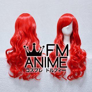 Medium Length Wavy Bright Red Cosplay Wig