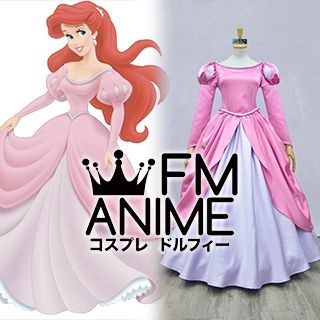The Little Mermaid (Disney) Ariel Pink Dress Cosplay Costume