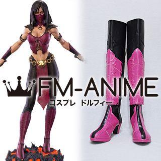 The Mortal Kombat Mileena Cosplay Shoes Boots