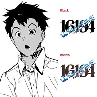 The Promised Neverland Don 16194 Number Cosplay Tattoo Stickers