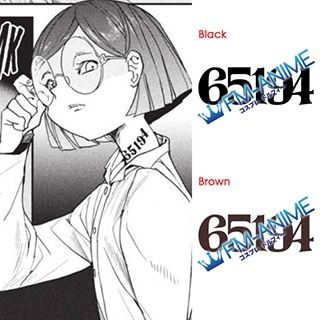 The Promised Neverland Gilda 65194 Number Cosplay Tattoo Stickers