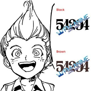 The Promised Neverland Lannion 54294 Number Cosplay Tattoo Stickers