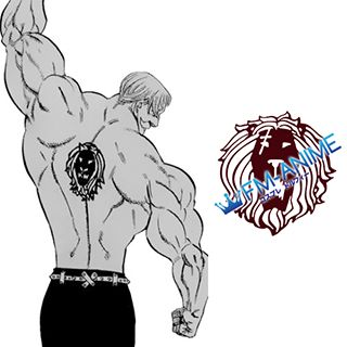 The Seven Deadly Sins Escanor Lion Cosplay Tattoo Stickers