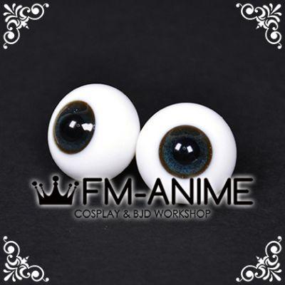 18mm Dark Indigo Blue Shiny & Black Pupil BJD Dolls Glass Eyes Eyeballs Accessories